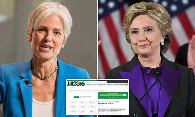 Jill Stein raises $2.2m in HOURS to recount Trump wins in 3 states