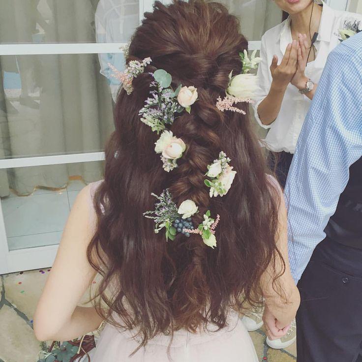 * hairarrange* * wedding hairmake * #ヘアアレンジ #結婚式 #プレ花嫁 #hairarrange #渋谷 #かねこアレンジ #花嫁 #山手迎賓館
