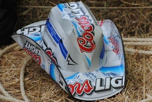 88b3ca950132f Him. Coors Light Beer Box Cowboy Hat ...