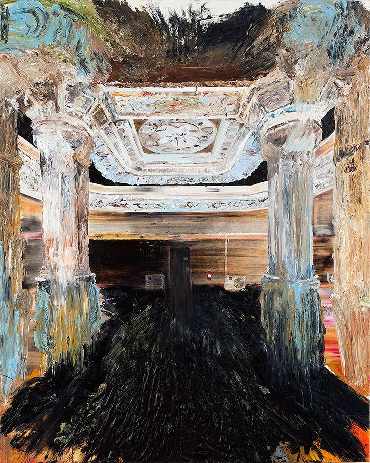Mie Mørkeberg: Untitled (En Moske I Sverige). 2012, oil on board, 160 x 150 cm
