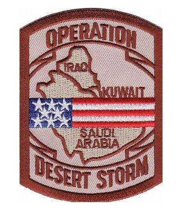 operation desert storm | Operation Desert Storm Map US Flag Patch