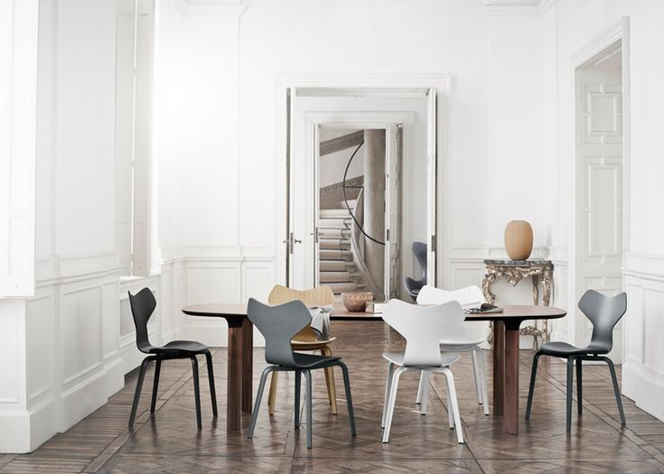 Fritz Hansen reintroduces original Grand Prix with new wooden legs
