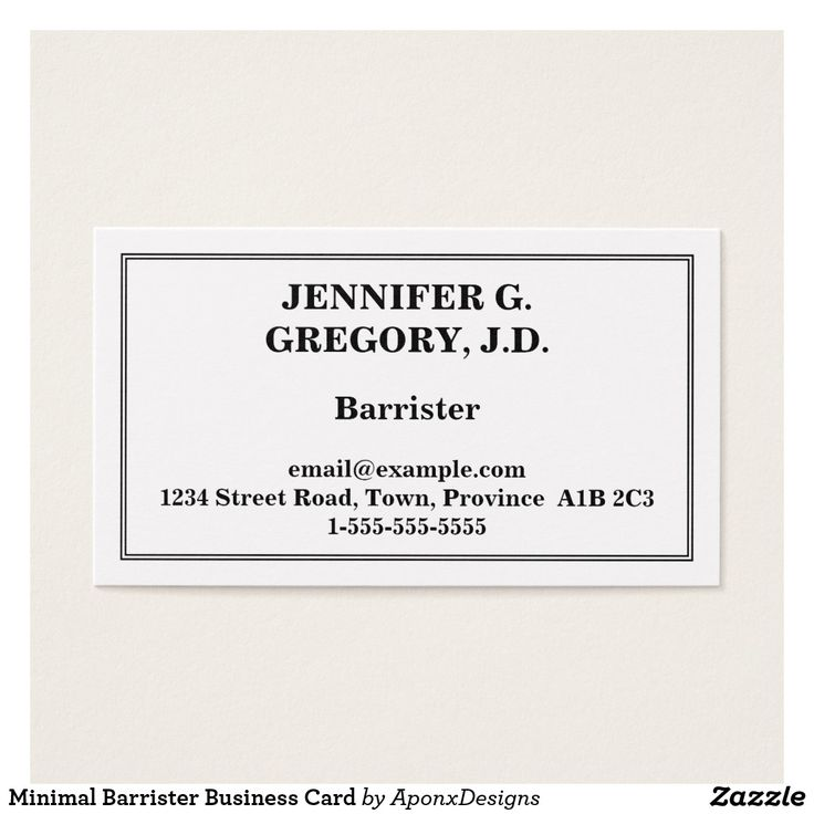 Minimal Barrister Business Card