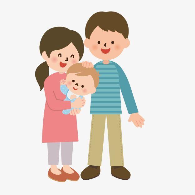 Hand Drawn Cartoon Character Villain Image Icon Mom And Dad And Baby Baby Cartoon Baby Icon Cartoon Characters