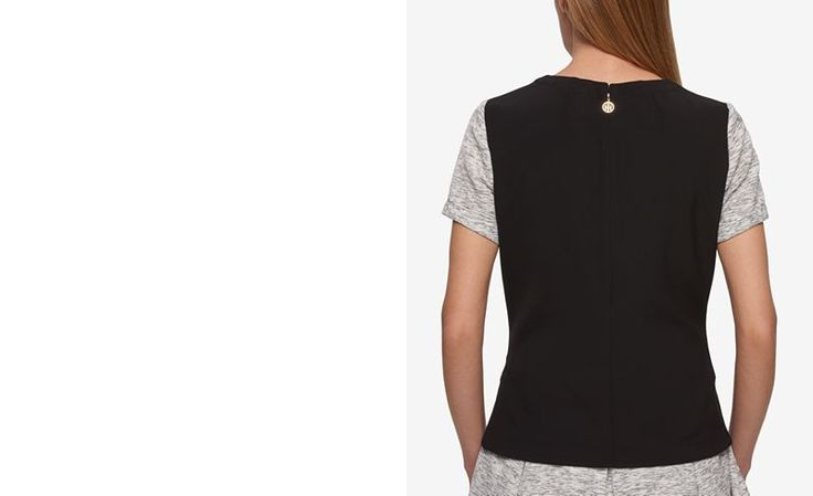 Tommy Hilfiger Contrast-Back Tailored T-Shirt, Only at Macy's - Tops - Women - Macy's