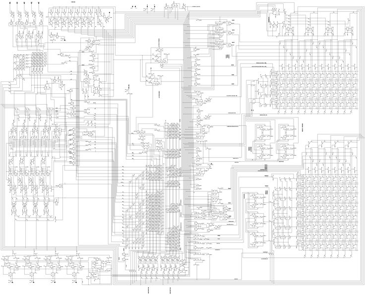 Schematic of the Intel 4004, the first commercially