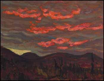 Alexander Young (A.Y.) Jackson Sunset Algoma 1919