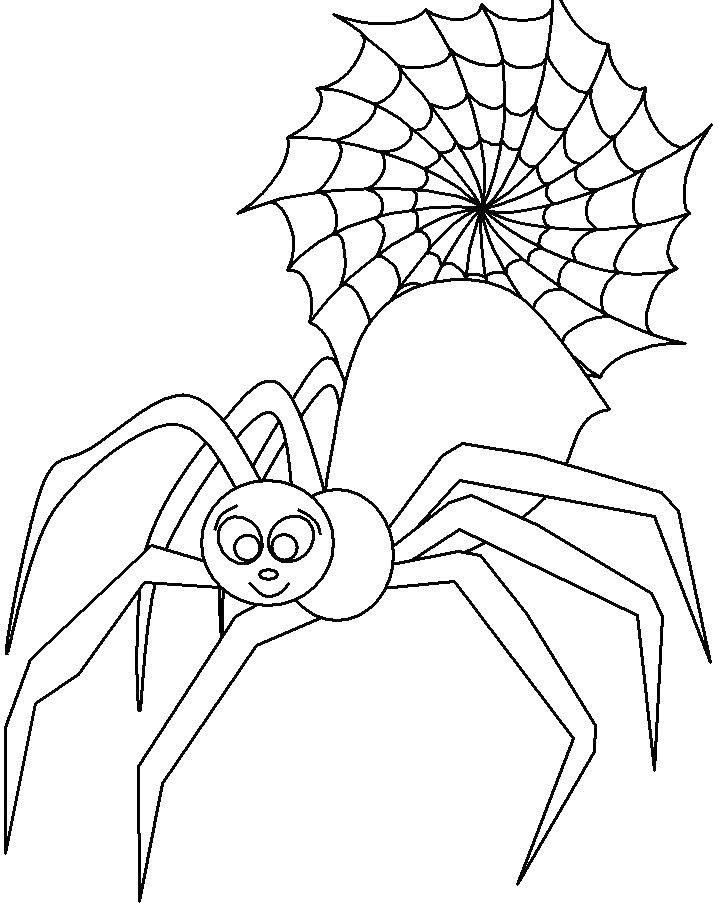 Cute spider girl coloring page cute spider pinterest for Spider coloring pages