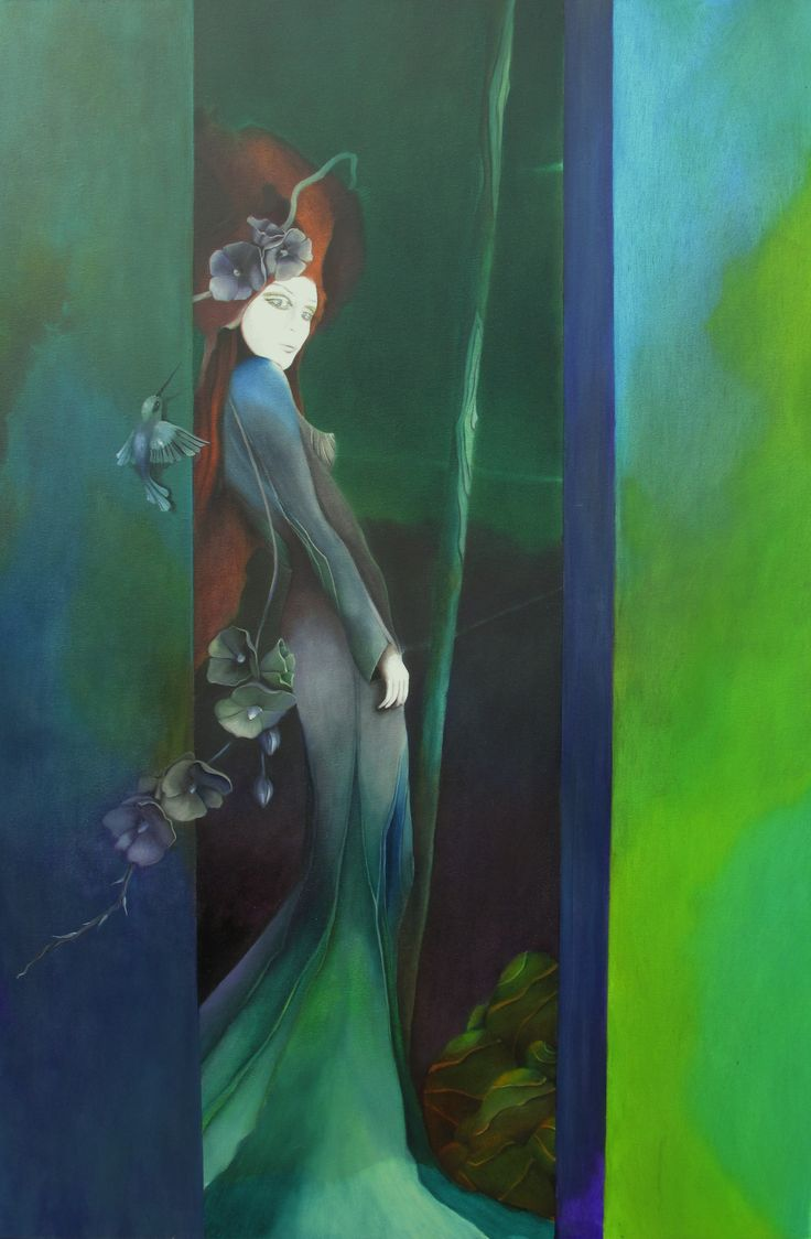 """""""might have been..."""" oil on canvas (110x90cm) by June Michel"""
