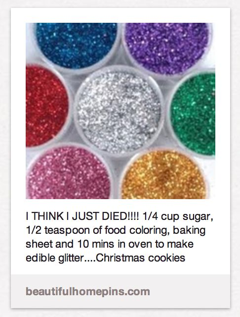 """""""I call shenanigans"""" website tests """"how-to-make-edible-glitter"""" pin"""