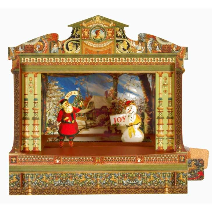 Christmas Toys Cards : Christmas toy theatre card from pollock s shop http
