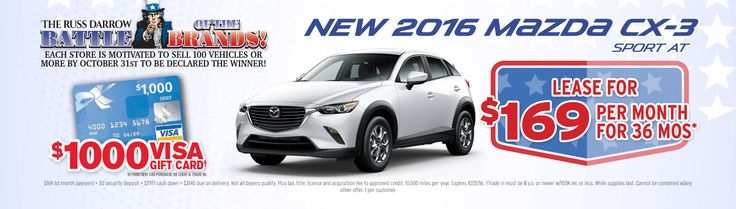 Don't miss this amazing Russ Darrow Mazda CX-3 lease special!