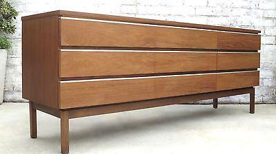 a 1960s FLER longline SIDEBOARD by FRED LOWEN retro VINTAGE dresser drawers