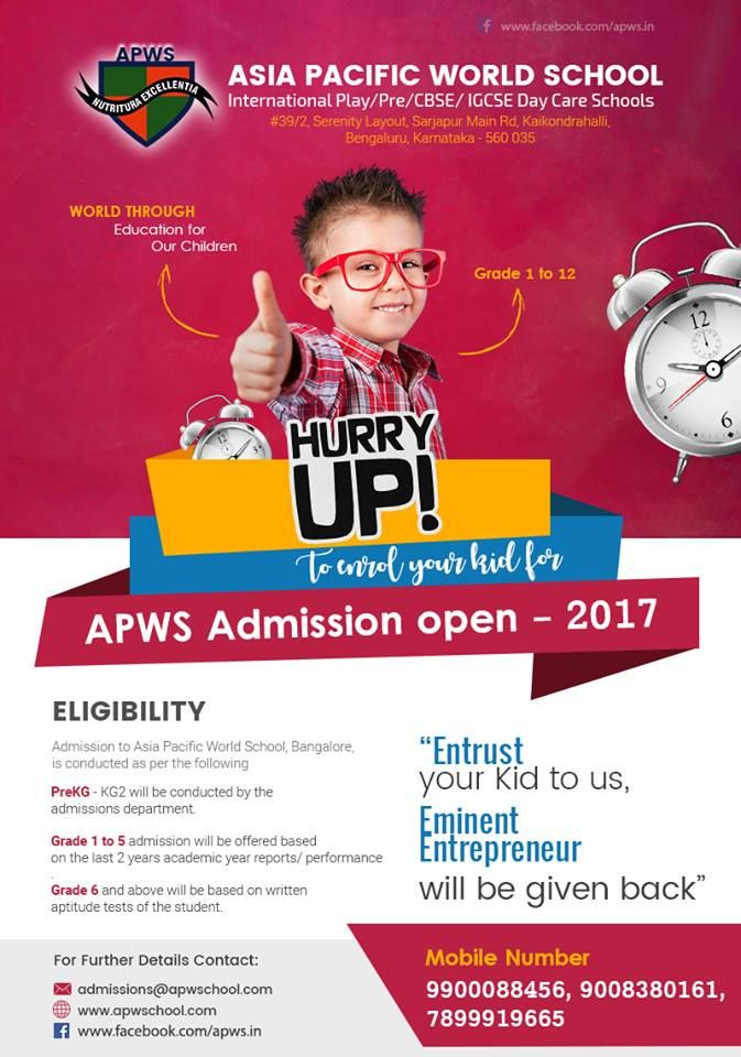"""#APWS """"Education is the Passport to the Future, for tomorrow Belongs to those who PREPARE for it Today"""" Bring in your kids to our School premises and See to yourself """"WHY WE DIFFERENT"""" Offering Facilities that meets international standards to Faculties who are trained to help your kids Grow , We the #AsiaPacificWorldSchool promise to be an institution of excellence , dedicated to producing Entrepreneurs of tomorrow. For more Details on Education Curricullum and Admissions , Visit…"""