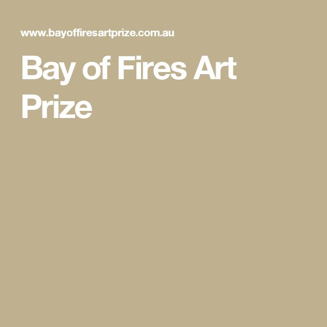 Bay of Fires Art Prize