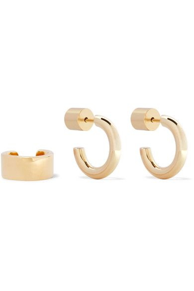 Jennifer Fisher - Gold-plated Hoop Earrings And Ear Cuff Set - one size