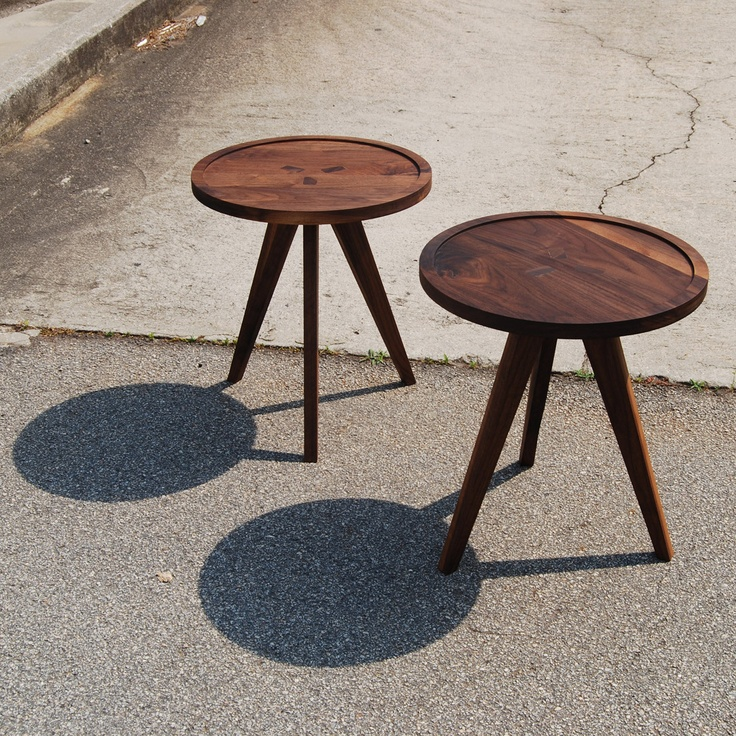 Walnut Side Tables. I Like The Way The Leg Tenons Show In The Top.