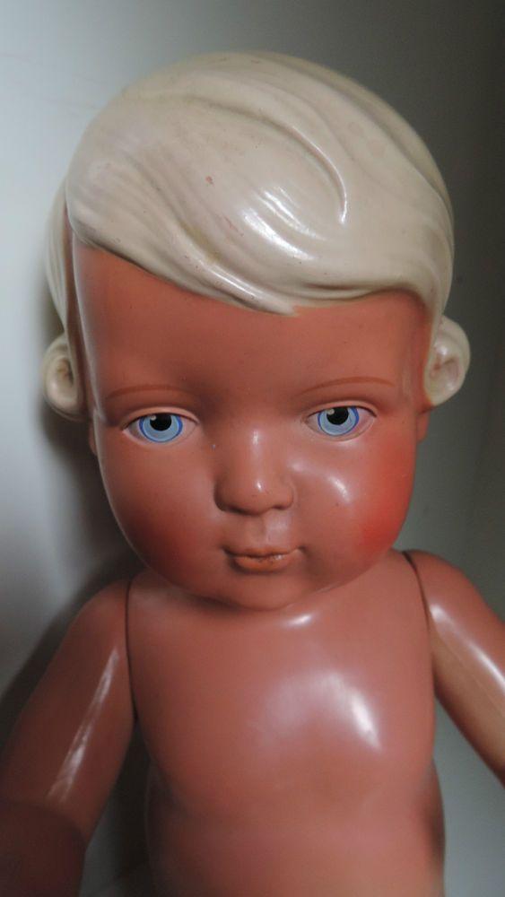 Schildkröt Puppe Inge, 42 cm,Zelluloid-Puppe,30er-50er Jahre in Antiquitäten & Kunst, Antikspielzeug, Puppen & Zubehör | eBay!