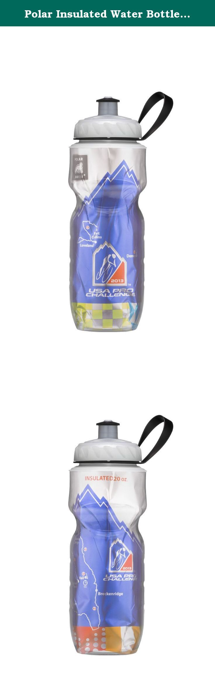 Polar Insulated Water Bottle (20-Ounce, 2013 Commemorative USA Pro Cycling Challenge). Polar Bottle is the original insulated plastic sport bottle and has been keeping liquids colder, longer, since 1994. The bottle has evolved in the years since with brightly colored foil liners and patterns and an innovative removable valve system. Made in America, Polar Bottle is popular throughout the world. Combining the thermal properties of an insulated vacuum bottle with the lightweight, flexible...