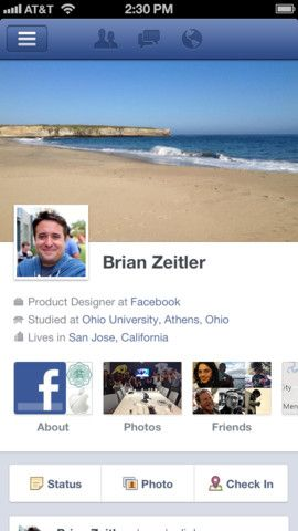 profile on Facebook
