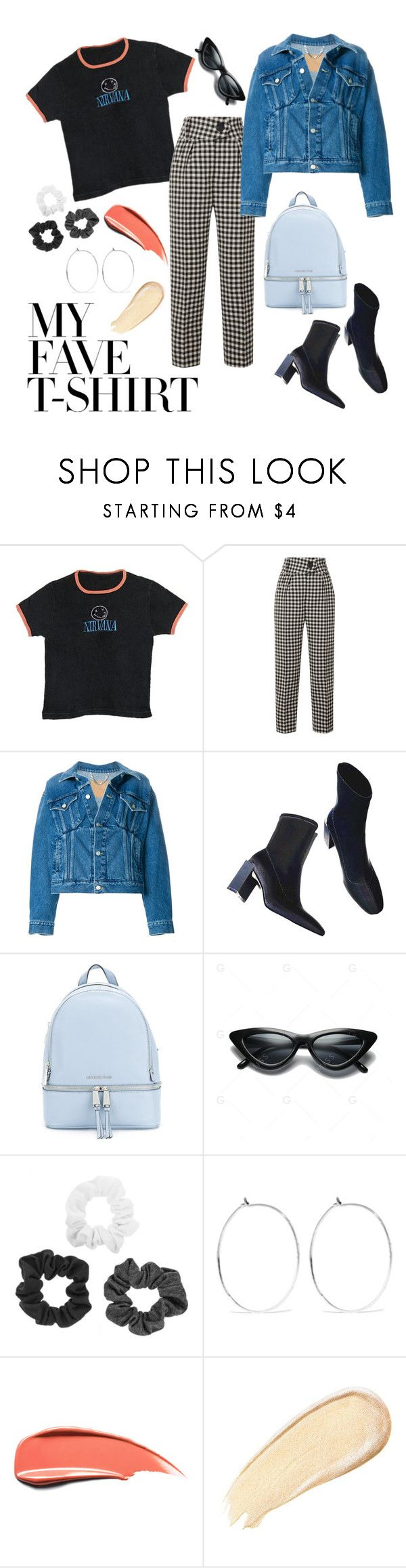 """""""T-shirt dressed up"""" by abigail-akc ❤ liked on Polyvore featuring Petar Petrov, Balenciaga, MICHAEL Michael Kors, Catbird and MyFaveTshirt"""