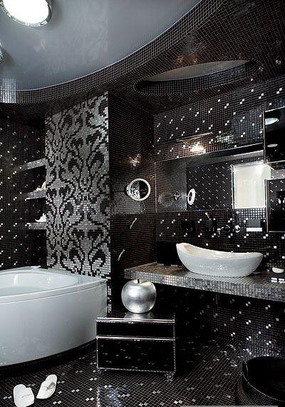 Ванная комната в стиле арт деко. Выбираем мебель, плитку, сантехнику, аксессуары. 30 проектов с фото