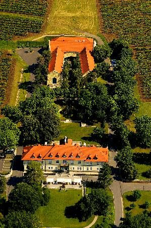 Grof Degenfeld Castle Hotel, Hungary. Degenfeld makes Tokaj's best wine bottles. This hotel is in the town of Tarcal. The family's restored chateau with well-appointed rooms with views overlooking the vineyards. $175 for 2/night. Conde Nast Traveler 4/2001.