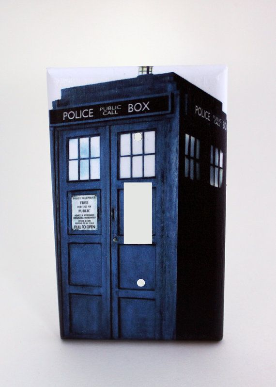 Light switch cover single doctor who tardis by for Tardis light switch cover
