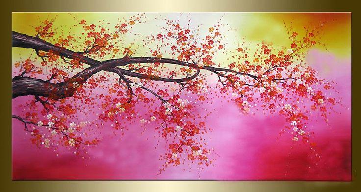 Cuadros flores abstractos tripticos dipticos modernos - Ver cuadros modernos ...
