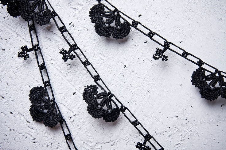 "#oya #crochet turkish lace - needle lace - crochet - oya necklace - 129.92"" - free worldwide shipment with UPS - fatma-006. $44.00, via Etsy."
