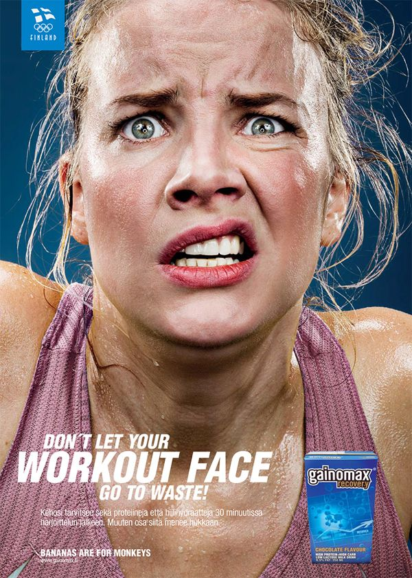 GAINOMAX WORKOUT FACE by Kimmo Syvari, via Behance