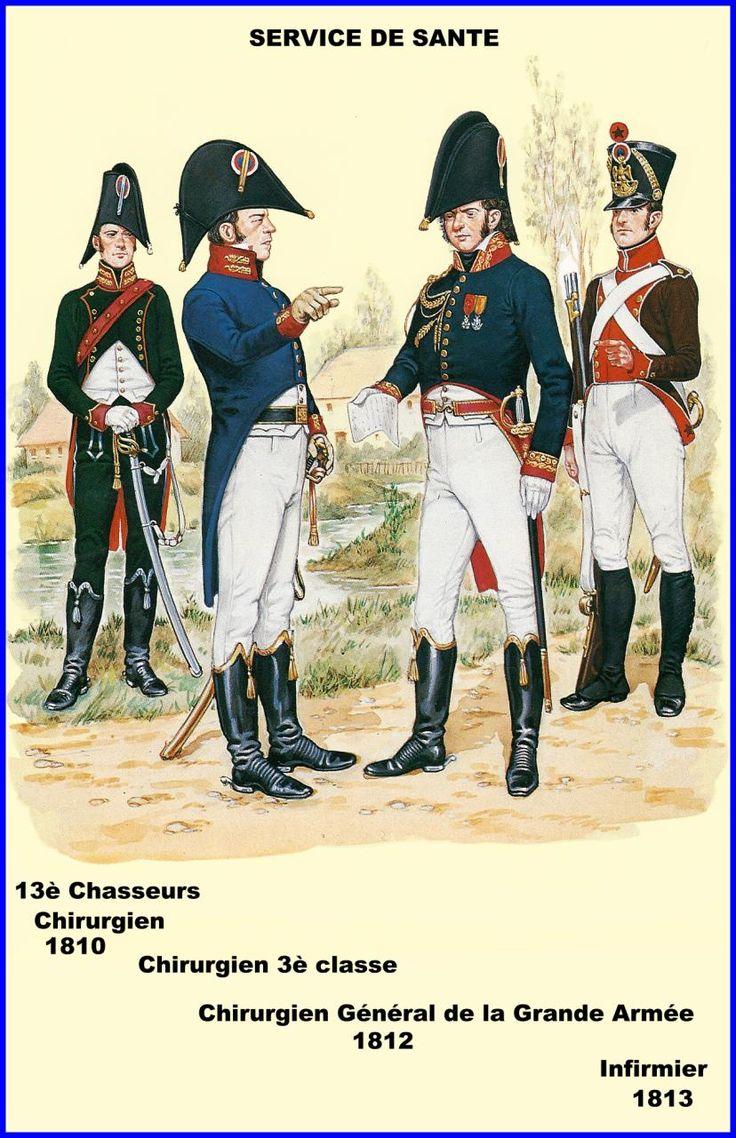 Service de Santé 13e chasseurs chirurgien 1810 chirurgien 3e clase chirurgien Général de la grande armée 1812 infirmier 1813