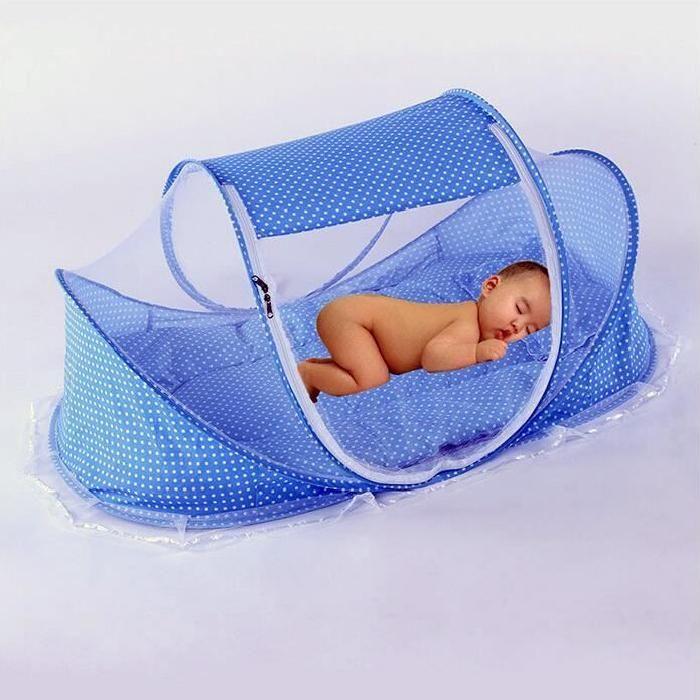 Moustiquaire Pliable Bébé Portable Avec Coussin Et Oreiller Rose Voyage En  Plage Vite Lit Tente Simple Pour Petit