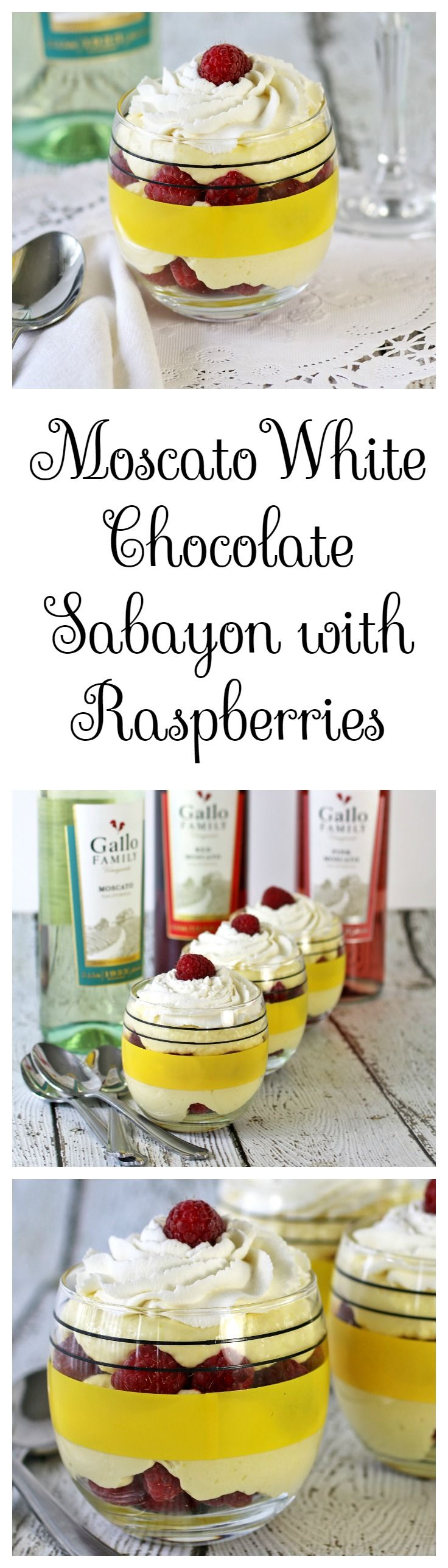 Moscato White Chocolate Sabayon #SundaySupper  #GalloFamily - Recipes Food and Cooking