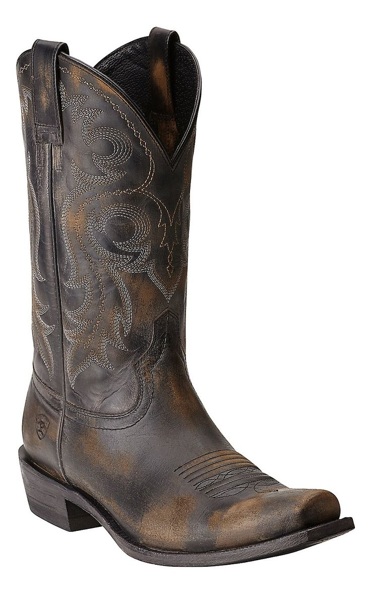 Ariat Men's Lawless Rustic Black Punchy Square Toe Western Boot