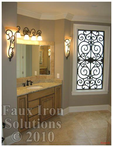 Faux Iron Window Treatments