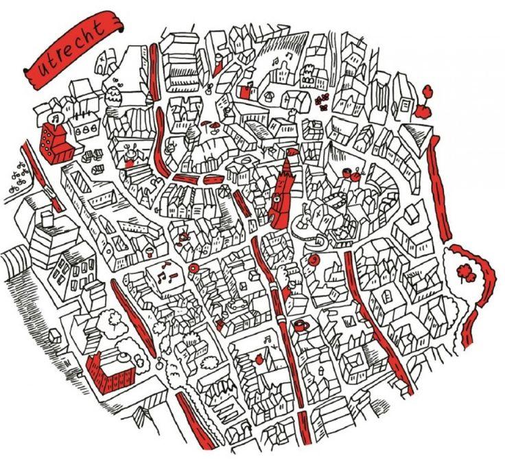Unieke getekende plattegrond van Utrecht is het project van Spot  Utrecht. Middels crowdfunding platform voordekunst probeert Spot  Utrecht financiering te krijgen. Word nu donateur!