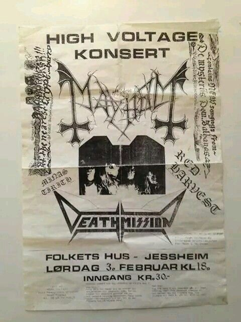 Mayhem Flyer.