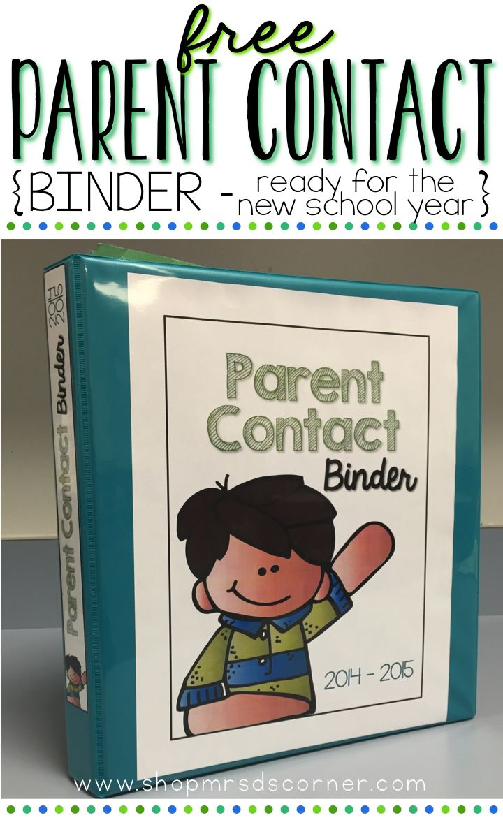 FREE * READY FOR THE NEW SCHOOL YEAR * All teachers know how important it is to be in contact with parents on the regular. With this free contact log binder setup, you'll no longer need to worry about who called when, for what, and what you need to do now. Keep this binder near your desk so you never forget to log a call or email again.
