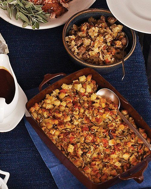 Shiitake-Mushroom Stuffing and Sausage Stuffing | Recipe ...