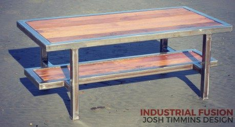 Layer Coffee Table Industrial Fusion Furniture NZ