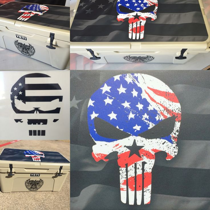 Custom American Punisher decals for the Yeti 65
