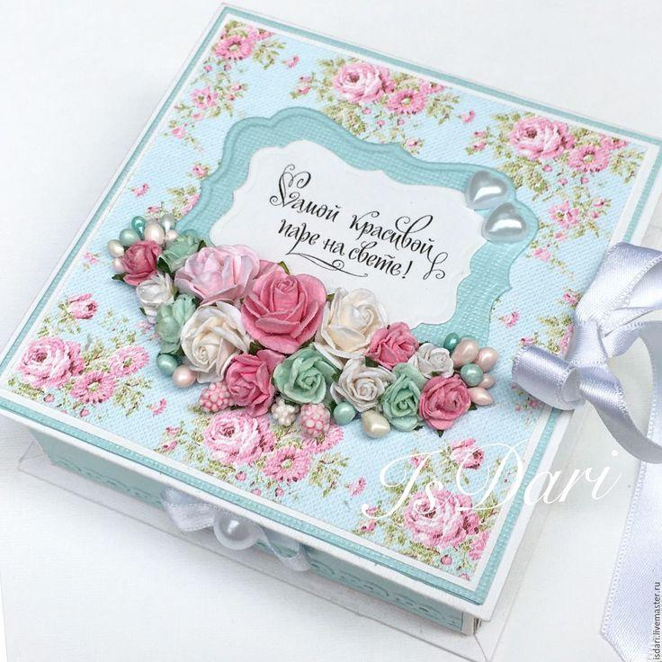 """Купить Коробочка для денег """"Цветущий сад"""" - коробочка для денег, свадьба, свадебный подарок, для денежного подарка"""