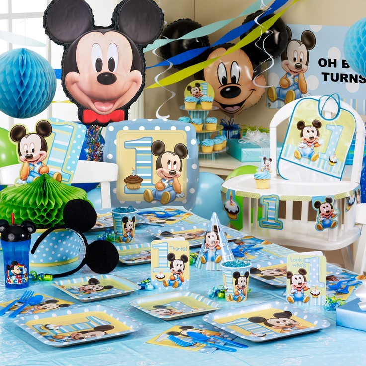 29 best Logans first birthday images on Pinterest Mickey party