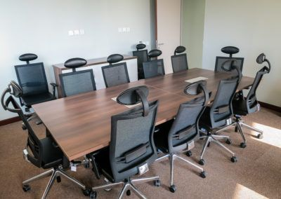 Timber Boardroom with Mesh Chairs