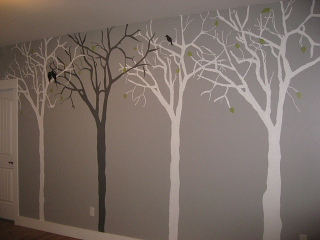 Bedroom Wall Painting Tree : Best images about new bedroom ideas on