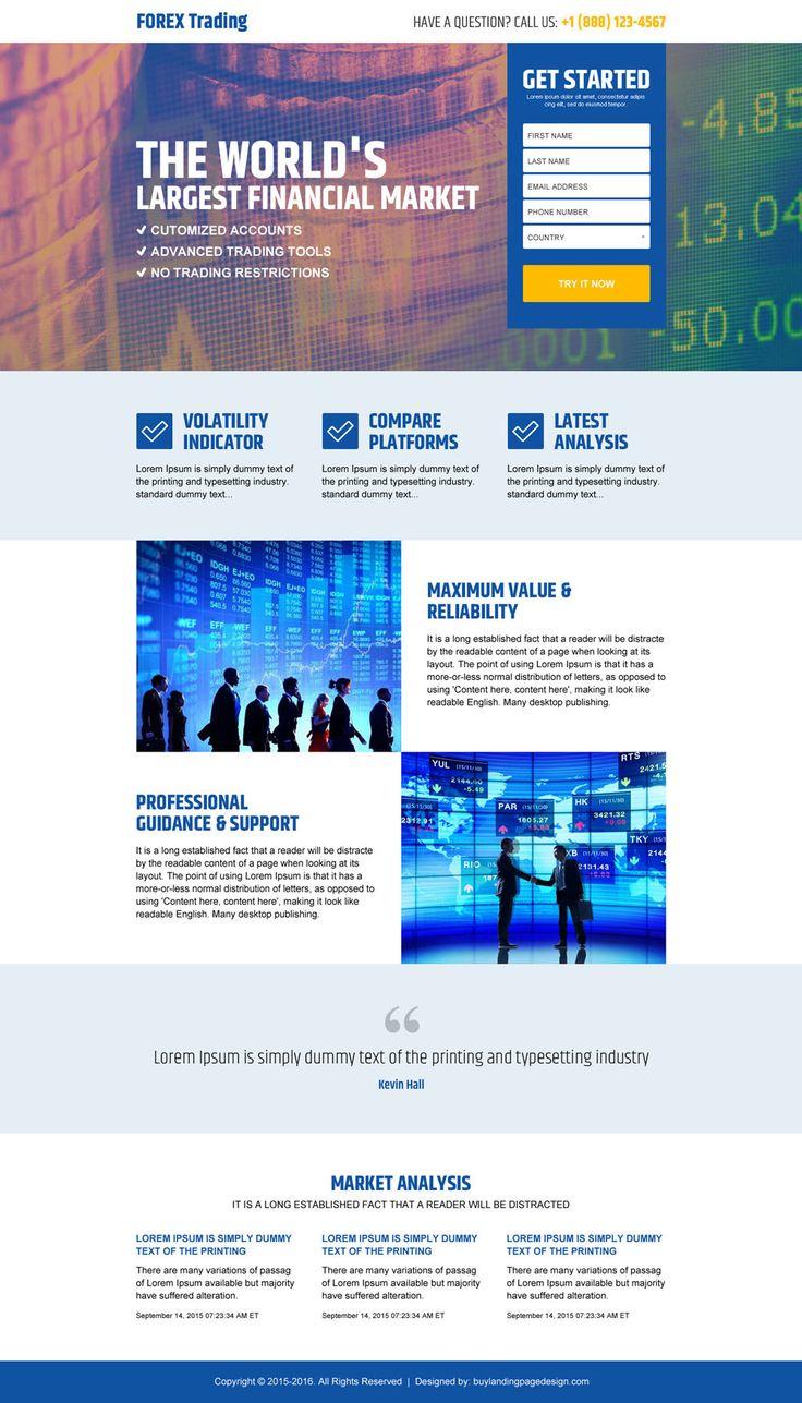 Forex trading landing page