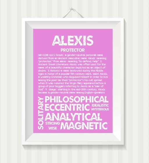 ALEXIS Personalized Name Print / Typography Print / by OhBabyNames