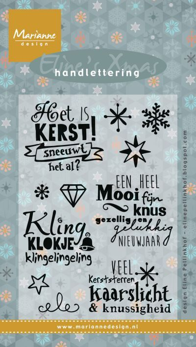 Ec0157 Eline's handlettering Kerst NL