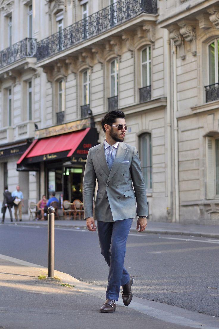 Place Charles De Gaulle - szarości i błękity : Outdersen - Męski styl